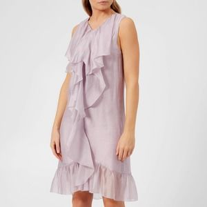 See By Chloe Lavender Frost Flounce Dress 38